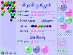 Bubble Shooter Deluxe options